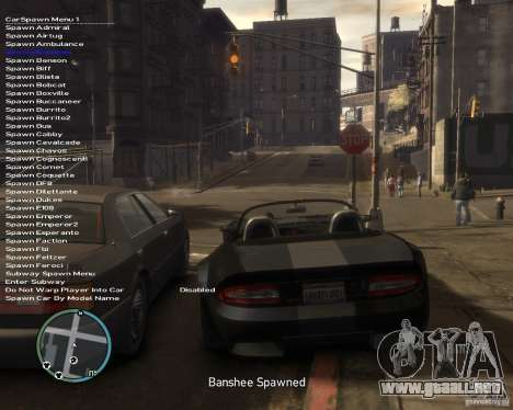 Simple Native Trainer v6.4 para GTA 4 adelante de pantalla
