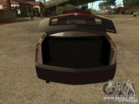 Cadillac CTS para GTA San Andreas vista hacia atrás