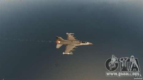 F-16C Fighting Falcon para GTA 4 vista superior