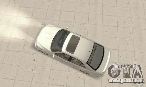 Lexus IS300 Stock para GTA San Andreas vista posterior izquierda