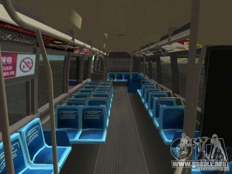GMC RTS MTA New York City Bus para vista lateral GTA San Andreas