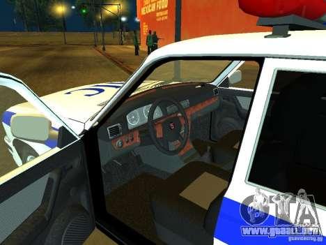 GAZ 31105 policía para la visión correcta GTA San Andreas