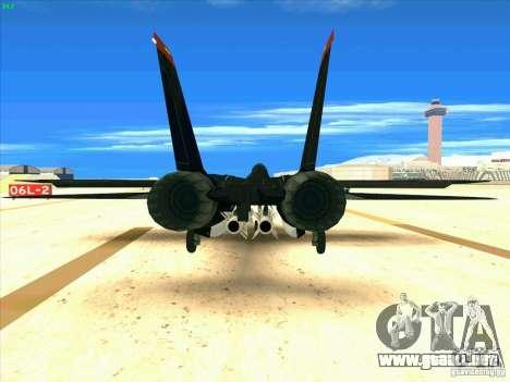 F-14 Tomcat Razgriz para GTA San Andreas vista posterior izquierda