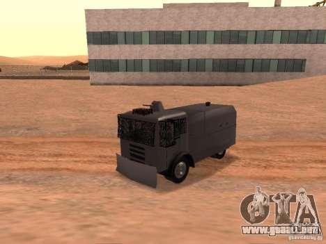 Un cañón de agua policía Rosenbauer para GTA San Andreas vista hacia atrás