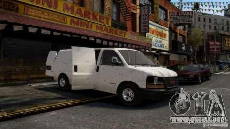 GMC Savana 2500 v1.0 para GTA 4 vista hacia atrás