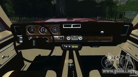 Oldsmobile Vista Cruiser 1972 v1.0 para GTA 4 vista hacia atrás