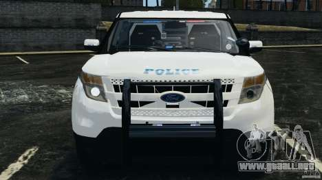 Ford Explorer NYPD ESU 2013 [ELS] para GTA 4 vista lateral