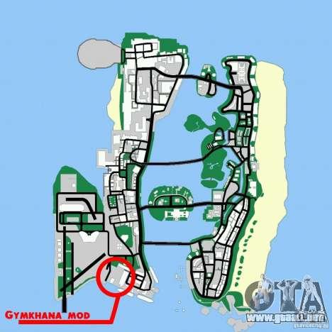 Gymkhana mod para GTA Vice City sucesivamente de pantalla