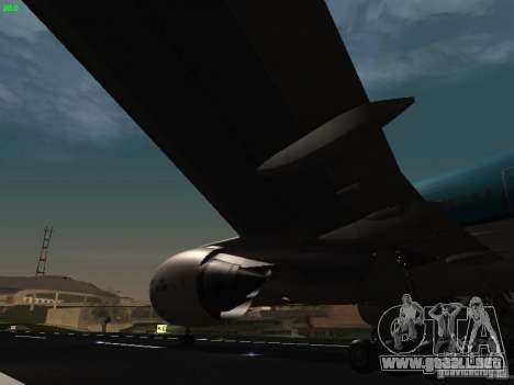 Boeing 777-200 KLM Royal Dutch Airlines para vista lateral GTA San Andreas