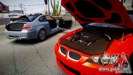 BMW M3 E92 ZCP 2012 para GTA 4 Vista posterior izquierda