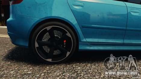 Audi RS3 Sportback V1.0 para GTA 4 vista hacia atrás