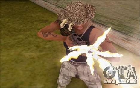 Tavor ctar-21 de WarFace v2 para GTA San Andreas tercera pantalla
