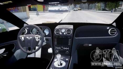 Bentley Continental SS 2010 Suitcase Croco [EPM] para GTA 4 vista superior