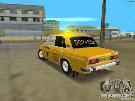 2106 VAZ Taxi v 2.0 para GTA Vice City vista lateral izquierdo