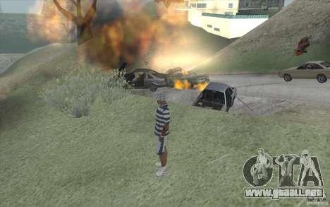 Ola de fuego para GTA San Andreas sucesivamente de pantalla