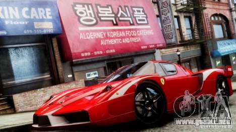 Ferrari FXX Evoluzione para GTA 4 Vista posterior izquierda