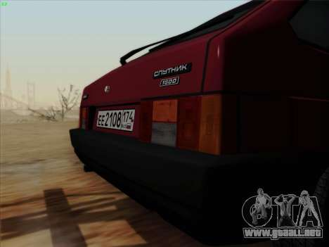 VAZ 21083i para GTA San Andreas vista hacia atrás