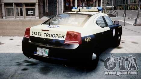 Dodge Charger Florida Highway Patrol [ELS] para GTA 4 Vista posterior izquierda