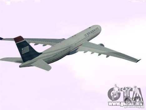 Airbus A330-300 US Airways para GTA San Andreas left