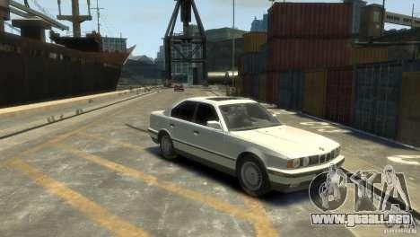 BMW 525i para GTA 4 Vista posterior izquierda