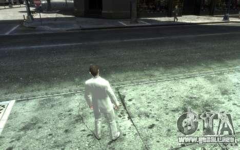 Gran traje gris y blanco para GTA 4 quinta pantalla