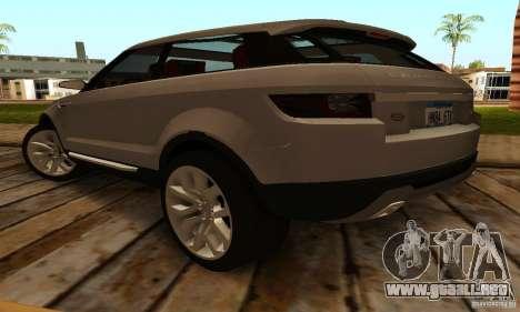 Land Rover Range Rover Evoque para GTA San Andreas vista posterior izquierda