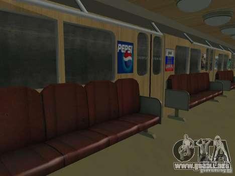 Metro e para visión interna GTA San Andreas