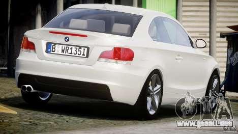BMW 135i Coupe 2009 [Final] para GTA 4 vista lateral