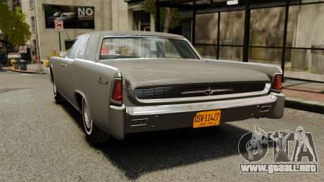 Lincoln Continental 1962 para GTA 4 Vista posterior izquierda