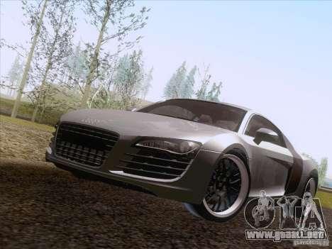 Audi R8 Hamann para GTA San Andreas vista hacia atrás