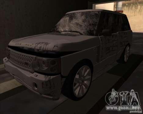 Land Rover Range Rover Supercharged para GTA San Andreas vista hacia atrás