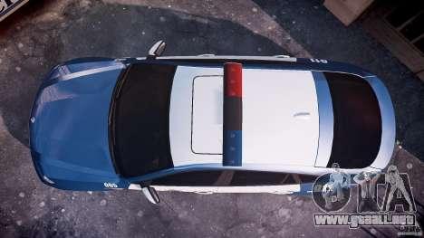 BMW X6M Police para GTA 4 visión correcta