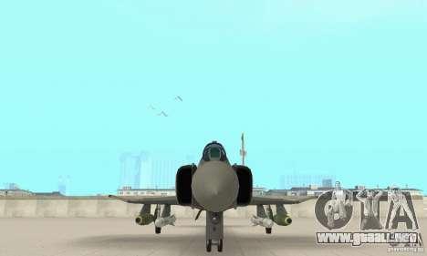 F-4E Phantom II para visión interna GTA San Andreas