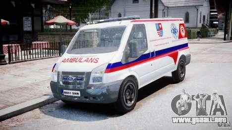 Ford Transit Polish Ambulance [ELS] para GTA 4