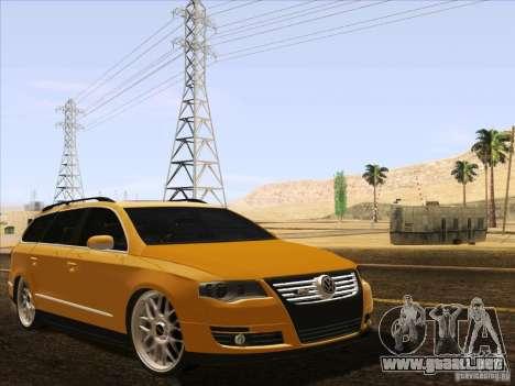 Volkswagen Passat B6 Variant para vista inferior GTA San Andreas