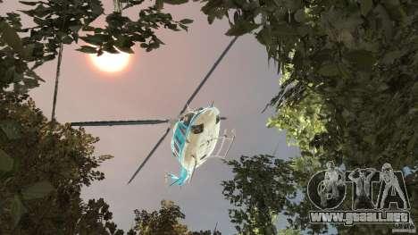 NYPD Bell 412 EP para GTA 4 vista lateral