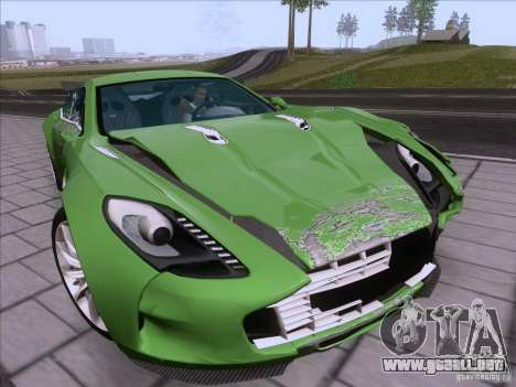 Aston Martin One-77 2010 para vista inferior GTA San Andreas