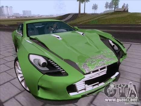 Aston Martin One-77 2010 para vista inferior GTA San Andreas