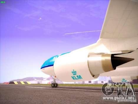 Airbus A330-200 KLM Royal Dutch Airlines para visión interna GTA San Andreas