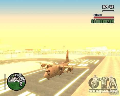 C-130 hercules para GTA San Andreas vista hacia atrás