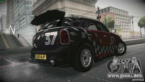 Mini Countryman WRC para la visión correcta GTA San Andreas