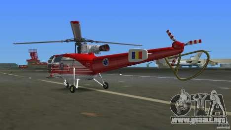 IAR 316B Alouette III SMURD para GTA Vice City visión correcta