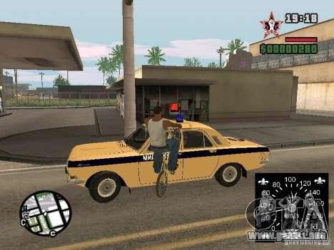 Nuevo velocímetro para GTA San Andreas segunda pantalla