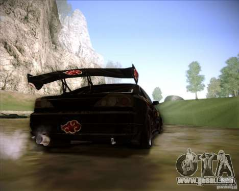 Nissan Silvia S15 with AKATSUKI paintjob para GTA San Andreas left