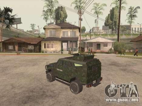 Oshkosh SandCat of Mexican Army para la visión correcta GTA San Andreas