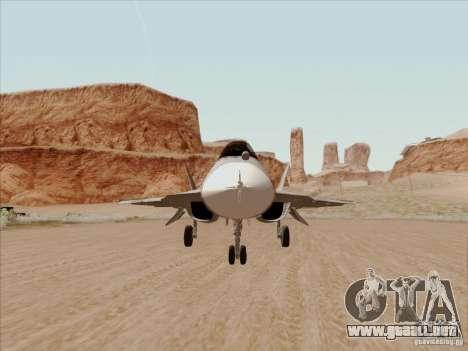T-50 Pak Fa para visión interna GTA San Andreas