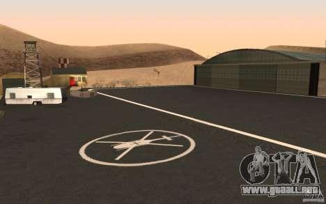 New Verdant Meadows Airstrip para GTA San Andreas sucesivamente de pantalla
