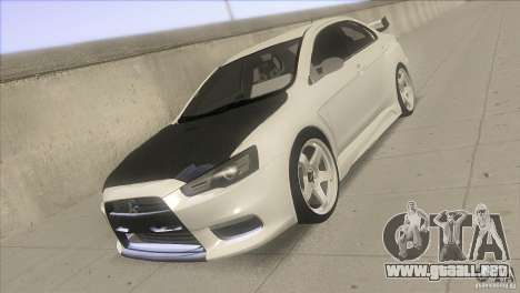 Mitsubishi Lancer Evo IX DIM para GTA San Andreas vista hacia atrás