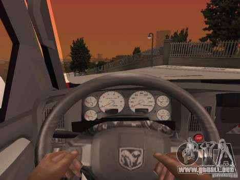 Dodge Ram 2010 para vista lateral GTA San Andreas