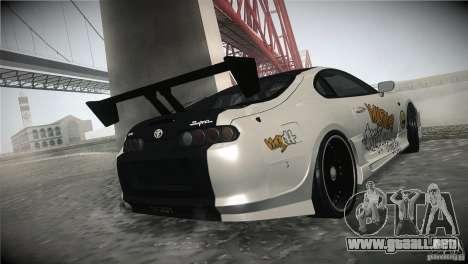 Toyota Supra MyGame Drift Team para visión interna GTA San Andreas